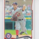 Gio Gonzalez Baseball Trading Card 2014 Topps Series 2 #523 Nationals