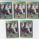 Roberto Alomar 2nd Year Lot of (5) 1989 Donruss #246 Padres