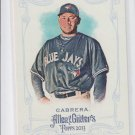 Melky Cabrera SP Baseball Trading Card 2013 Topps Allen & Ginter #345 Blue Jays