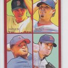 Beckett Nathan Liriano Papelbon 4 in 1 Red 2009 UD Goudey #38-69 Red Sox Twins