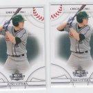 Josh Vitters Baseball Trading Card Lot of (2) 2008 Donruss Threads #95 Cubs