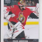 Craig Anderson Hockey Card Base Lot (2) 2013/14 Upper Deck Series 1 #43 Senators