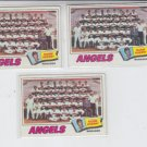 Angels TC Lot of (3) 1977 Topps #34 VG Some Checked See Scans.