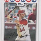 Mike Napoli Baseball Trading Card 2008 Topps Series 1 #73 Angels Red Sox