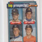 Brad Ausmus Rookie Card 1992 Topps #58 Yankees