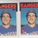 Pete Incaviglia Rookie Card Lot of (2) 1986 Topps Traded #48T Rangers