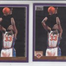 Patrick Ewing Basketball Card Lot (2) 2000-01 Topps #88 Knicks