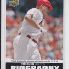 Albert Pujols Season Biography 2010 Upper Deck #SB-102 Cardinals Angels