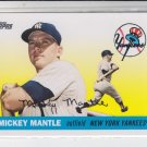 Mickey Mantle Story Insert 2008 Topps Series 1 #MMS8 Yankees