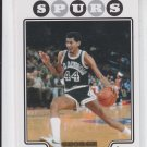 George Gervin Gold Foil Parallel 2008-09 Topps #178 Spurs
