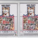 Jake Peavy Puzzle Insert Lot of (2) 2008 Topps Opening Day #13 & #14 Red Sox