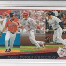 Albert Pujols Chipper Jones Matt Holliday 2009 Topps League Leaders #4