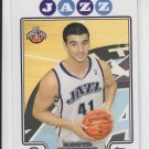 Kosta Koufos Rookie Card SP 2008-09 Topps #218 Jazz