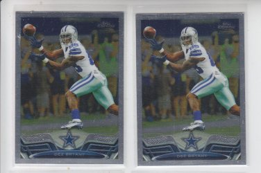 Dez Bryant Lot of (2) 2013 Topps Chrome #95 Cowboys