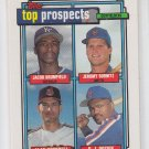 Jeromy Burnitz Alan Cockrell Rookie Card 1992 Topps Prospects #591 Mets