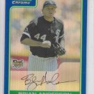 Brian Anderson Blue Refractor SP 2006 Bomwan Chrome Draft #BDP7 White Sox 77/199