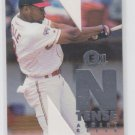"Albert Belle N-Tense Insert 1996 Fleer E-XL #1 Indians ""Cut Out"" Trading Card"