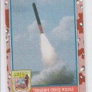 Tomahawk Cruise Missle Trading Card 1991 Topps Desert Storm Series 2 #167