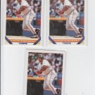 Cecil Fielder Baseball Trading Card Lot of (3) 1993 Topps #80 Tigers