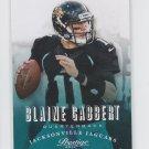 Blaine Gabbert Football Trading Card 2013 Panini Prestige #89 Jaguars