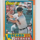 Cal Ripken Jr Belts 20 HR in 8th Season 1990 Topps #8 Orioles