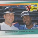 "Cal Ripken Jr & Joe Carter ""The Indispensables II"" 1992 Fleer #703 Orioles"