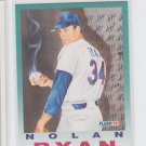 Nolan Ryan Baseball Trading Card 1992 Fleer #710 Rangers