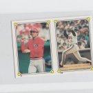 Andy Van Slyke & Brook Jacoby 1987 Topps Softback Sticker #212-51
