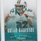 Brian Hartline Football Trading Card 2013 Panini Prestige #102 Dolphins