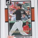 Christian Yelich Press Proof Gold Parallel 2014 Donruss #307 Marlins 93/99