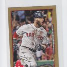 Dustin Pedroia Gold SP 2014 Topps Mini Exclusives #166 Red Sox 40/63