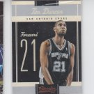Tim Duncan Basketball Trading Card Single 2010-11 Panini Cassicsa #6 Spurs