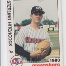 Sterling Hitchcock Trading Card Single 1990 Best Greensboro #2 Yankees