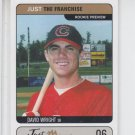 David Wright RC Prototype Trading Card Single 2002 Just Minors #JTF.06 Mets