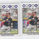 Todd Helton Trading Card Lot of (2) 2008 Topps #195 Rockies