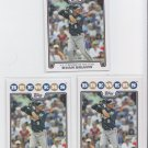 Ryan Braun ROY AW Trading Card Lot of (3) 2008 Topps #101 Brewers