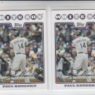 Paul Konerko Trading Card Lot of (2) 2008 Topps #296 Blue Jays