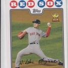 Hikdeki Okajima Trading Card Single 2008 Topps #379 Red Sox