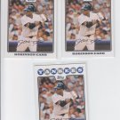 Robinson Cano Lot of (3) 2008 Topps #136 Yankees
