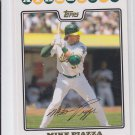 Mike Piazza Gold Foil Parallel 2008 Topps #72 Athletics