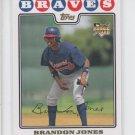 Brandon Jones Gold Foil Parallel RC 2008 Topps #126 Braves