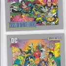 Crisis on Infinite Earths Trading Card Lot (2) 1991 Impel DC Comics 145 143 *ED