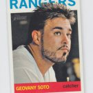 Geovany Soto Baseball Trading Card 2013 Topps Heritage #241 Rangers