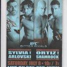 Tim Sylvia & Andrei Arlovski Fight Poster 2011 Topps UFC Moment of Truth #UFC61