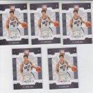 Yi Jianlian Basketball Trading Card Lot of (5) 2008-09 Donruss Elite Retail #70