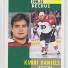 Kimbi Daniels RC French Hockey Card 1991-92 Pinnacle #336 Flyers
