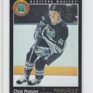 Chris Pronger RC French Hockey Card 1993-94 Pinnacle #456 Whalers Chipping