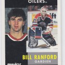 Bill Ranford French Hockey Card 1991-92 Pinnacle #170 Oilers