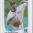 CC Sabathia Baseball Trading Card 2013 Topps Series 1 #52 Yankees