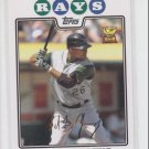 Delmon Young Baseball Trading Card 2008 Topps #175 Rays QTY